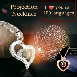 I love you PROJECTION NECKLACE! 100 languages!